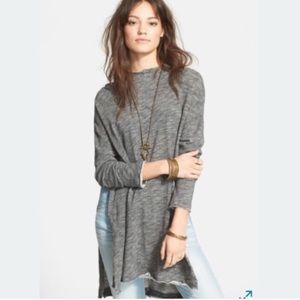 Free People Tops - Free People Beach In a Hurry gray hoodie one size